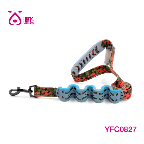 Camo Shock-Absorbed Leash w TPR Handle