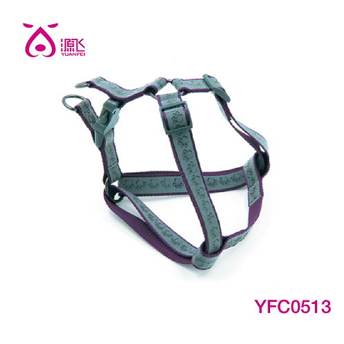 Highly Reflective Paw Harness Purple