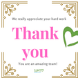 A Big Thank You to all staff at SJMT