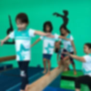 Competitive gymnastics class in Singapore