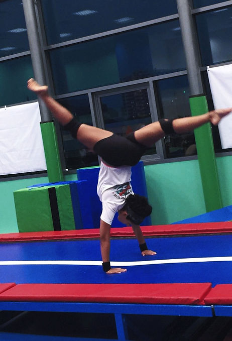 Back Walkover on Tumble Track