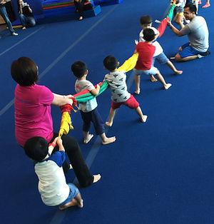 Recreational gymnastics class