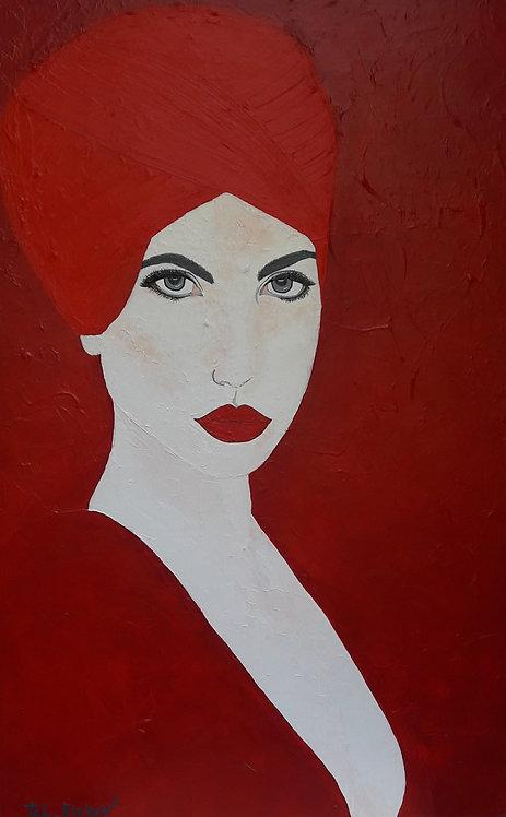 האישה באדום