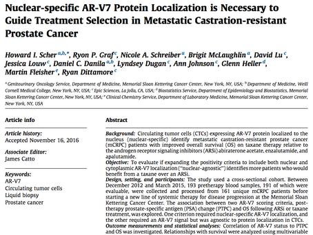 Chemistry in Context: AR-V7 in Metastatic Prostate Cancer