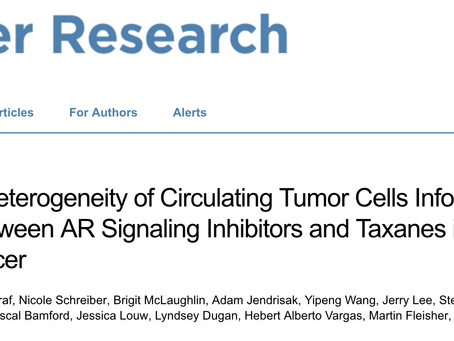 Two New Manuscripts: A Chaos Biomarker and Tracking Tumor Evolution with Liquid Biopsy