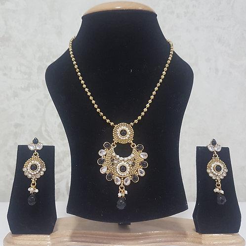 Gold & Black Pendant Set 0011