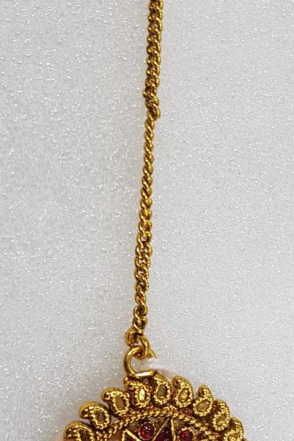 Gold Plated Magenta Tikka