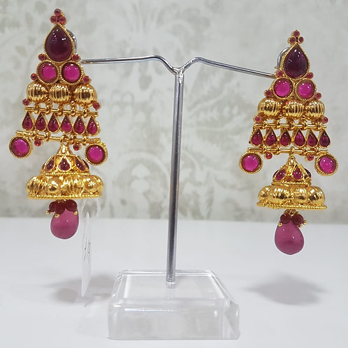 Gold Plated Pearl Earrings 0017
