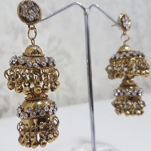 Lightweight Dark Gold Earrings 0062