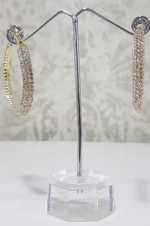 Large Silver Hoop Earring