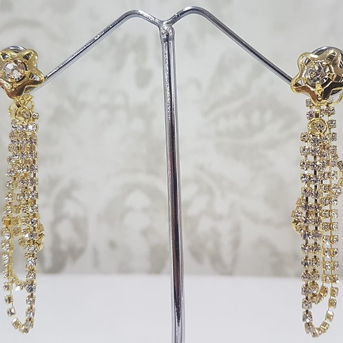 Silver & Gold Chain Earrings 0040