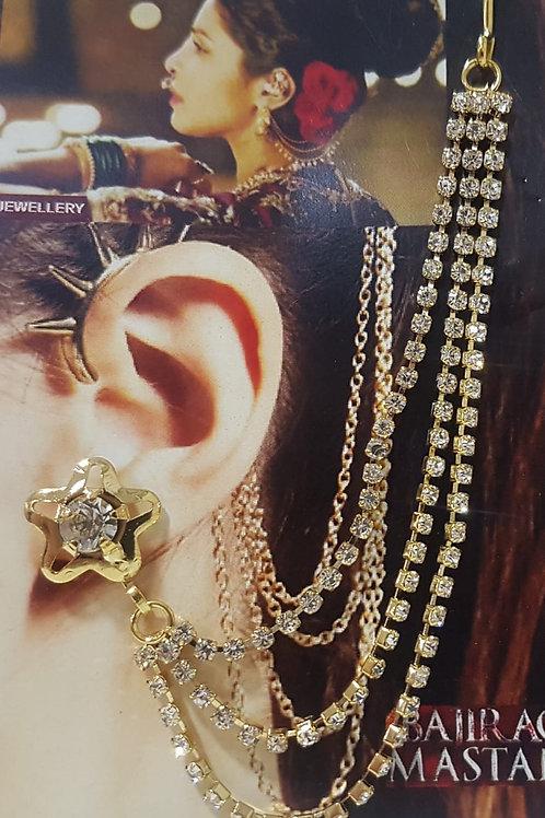 Silver & Gold Chain Earrings 0041