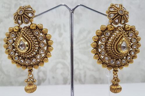 Designer Gold Plated AD Earrings 0106