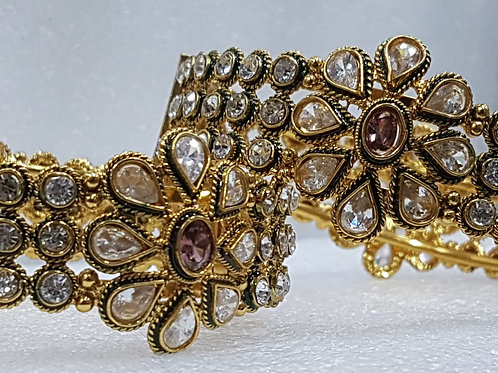 Hand Crafted Kundan Bracelet (Pair)