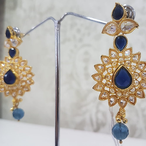 Gold Plated AD Stone Earrings 0014