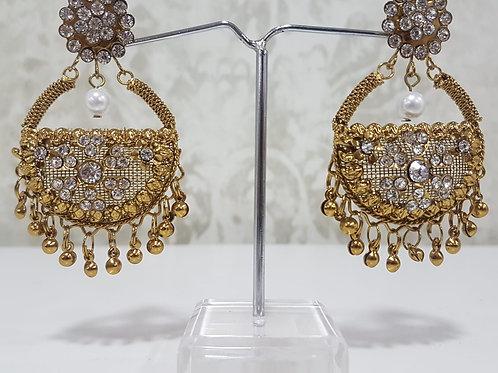 Lightweight Dark Gold Earrings 0061