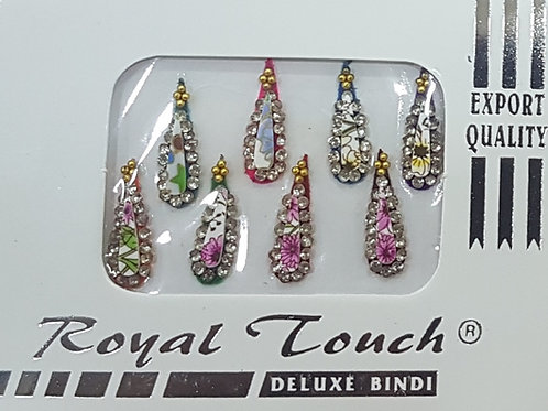 Floral Pointed Bindi 0036