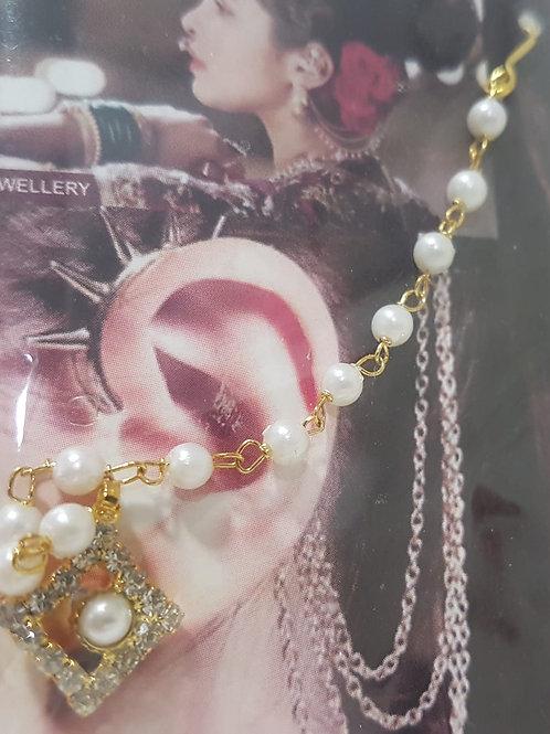 Silver & Gold Chain Earrings 0043