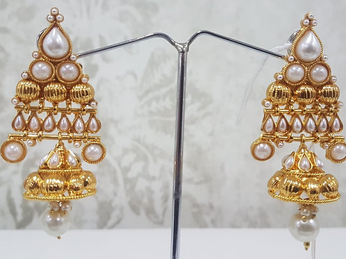 Gold Plated Pearl Earrings 0013