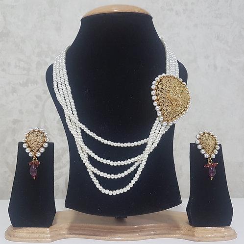 Designer Gold & Pearl Set 0027