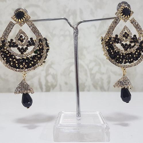 Black Dimontee Earrings 0129