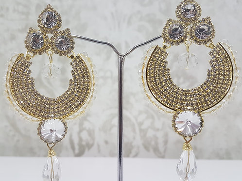 Silver & Gold Dimontee Earrings 0121