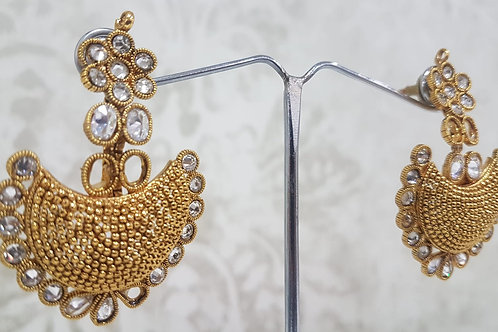 Gold Plated AD Stone Earrings 0012