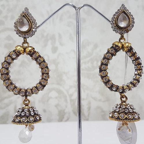 Designer Gold Plated AD Earrings 0105