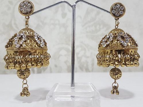 Lightweight Dark Gold Earrings 0064