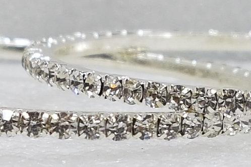 4 AD Silver Stone Bangles