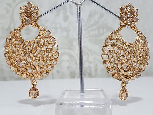 Designer Gold Plated AD Earrings 0108