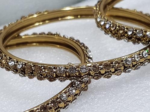 4 Dark Gold Bangles