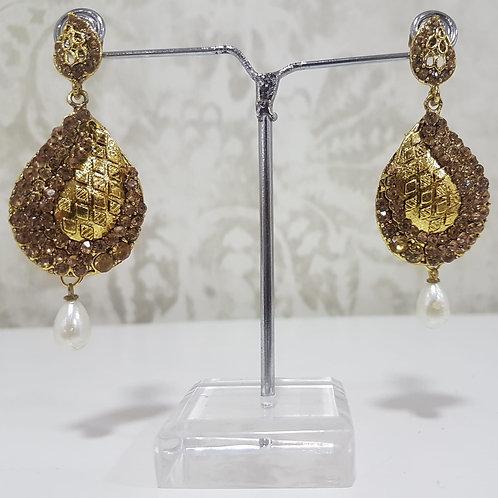 Lightweight Dark Gold Earrings 0063