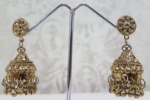 Lightweight Dark Gold Earrings 0095