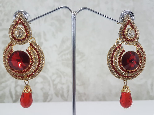 Red & Gold Earrings 001