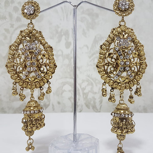 Lightweight Dark Gold Earrings 0060
