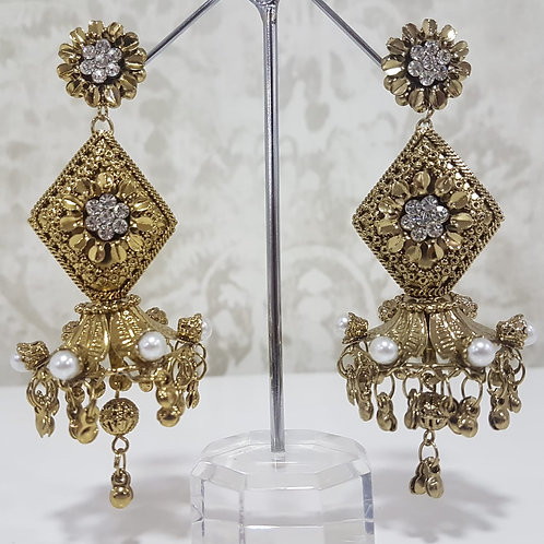 Lightweight Dark Gold Earrings 0059