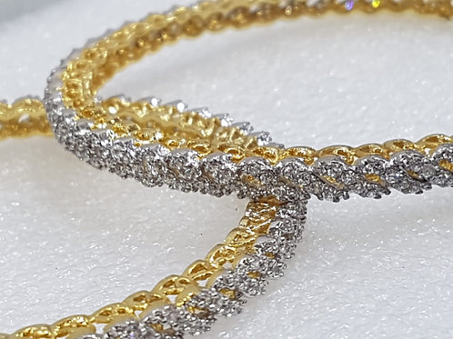 AD Gold plated Bangles