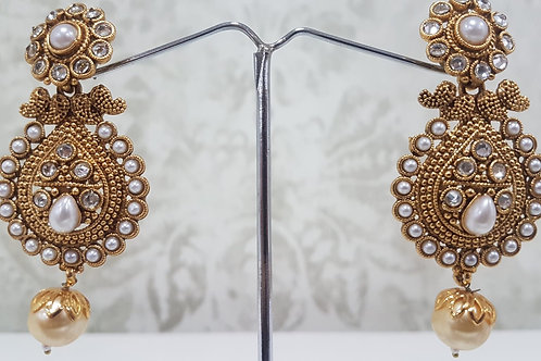 Gold Plated & Pearl Earrings 0075