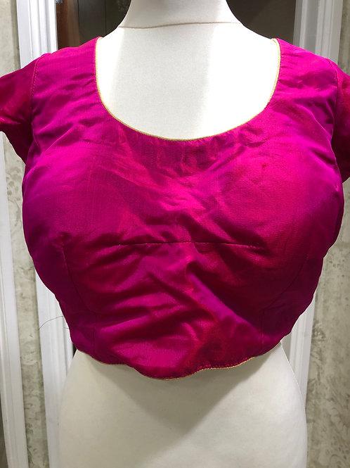 Magenta Silk Blouse