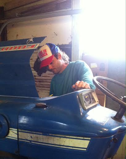 1984 mustache, tractor, 'merica