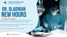 Dr. Oladiran's New Surgery Hours