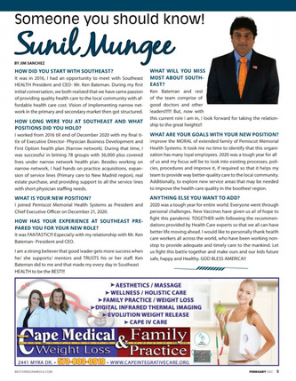 President and CEO Sunil Mungee's goals and plans for PMHS upon moving from Southeast Health