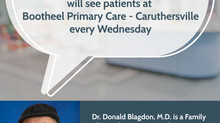 Dr. Donald Blagdon, M.D., to See Patients in Caruthersville