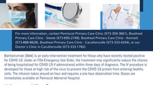 Pemiscot Memorial Health Systems Now Offering the BAM COVID-19 Treatment