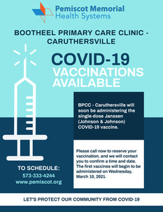 BPCC- Caruthersville Now Offering COVID Vaccine