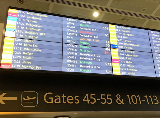 Travelling Blind: At the Airport