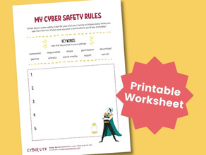 My Cyber Safety Rules (Printable Worksheet)