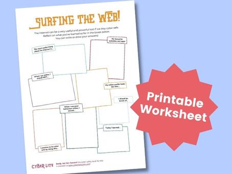 Surf The Web! (Printable Worksheet)