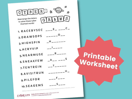 Cyber Safety Word Puzzle (Printable Worksheet)